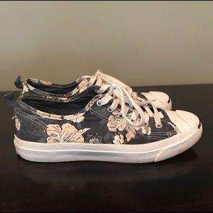 Converse Jack Purcell Navy Blue Flower Print